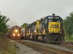 Eastbound Intermodal Train Racing a Thunderstorm